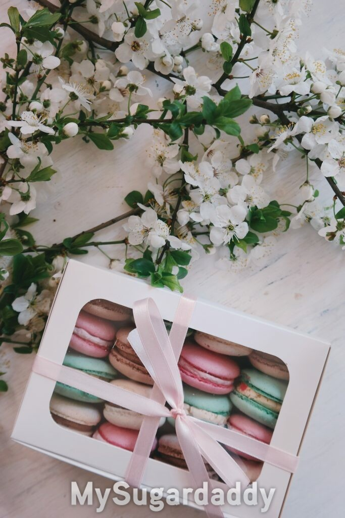 Gifts that everybody likes: A box of macaroons.