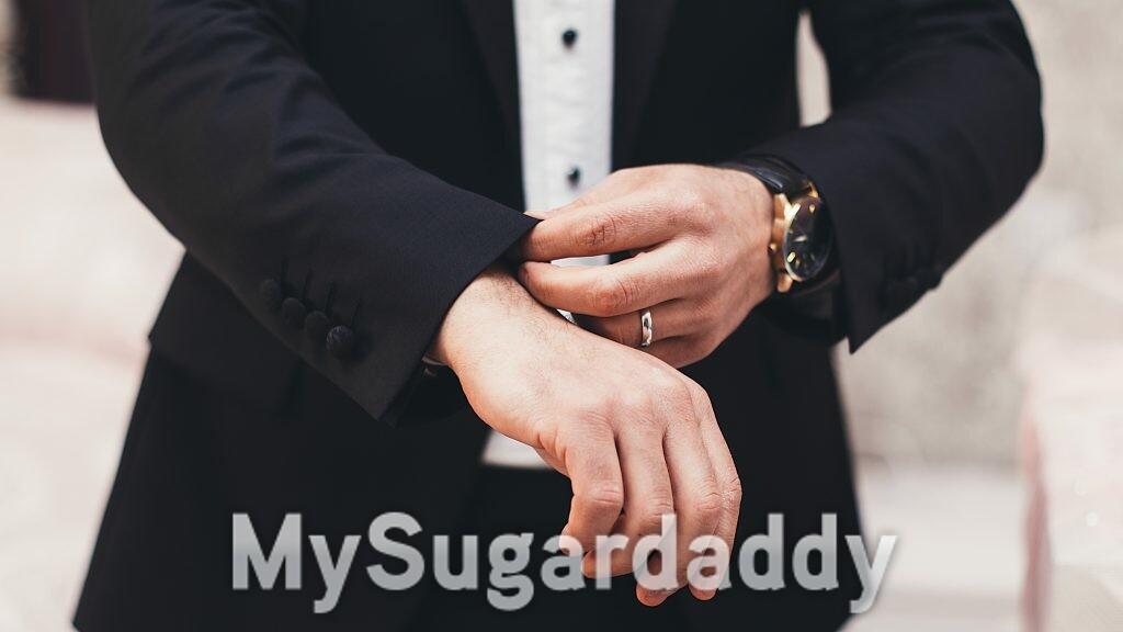man wearing a wedding ring