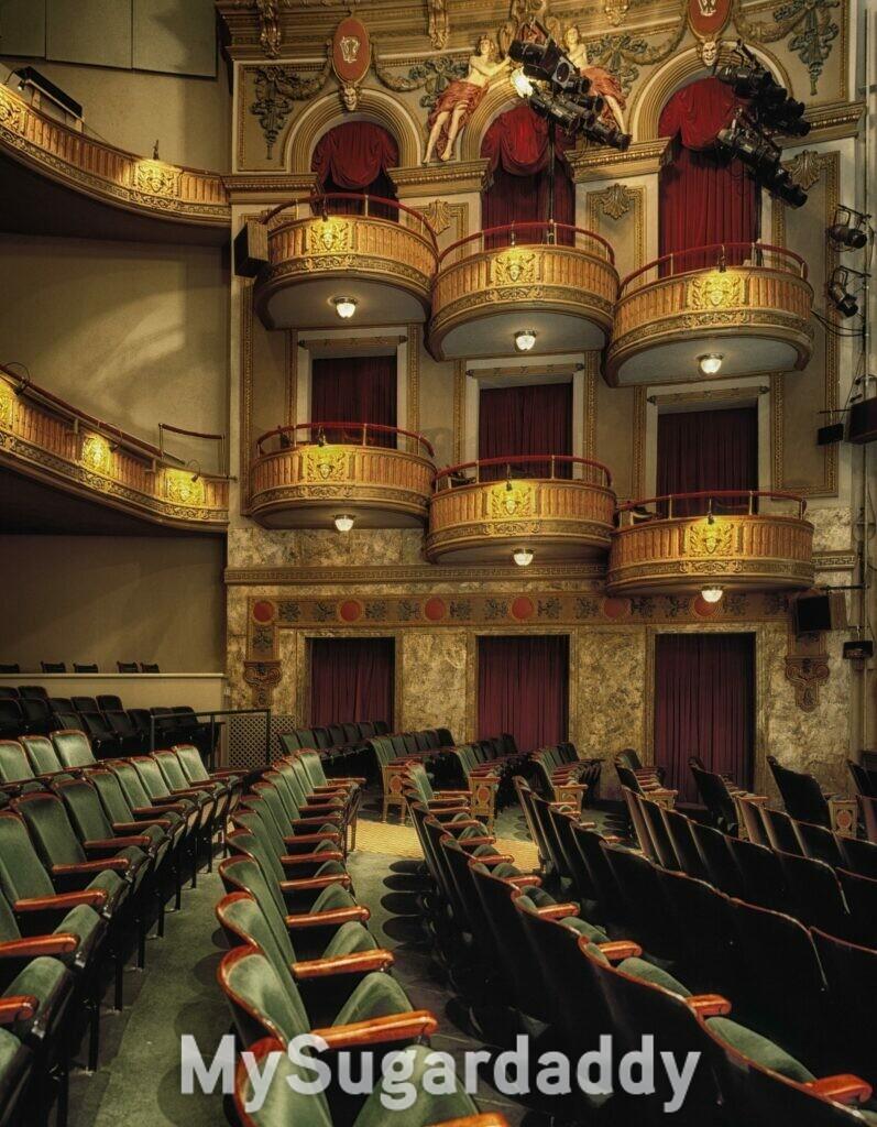 vista interna de um teatro