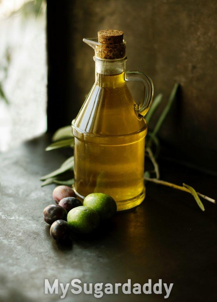 vidro de azeite de oliva para a beleza