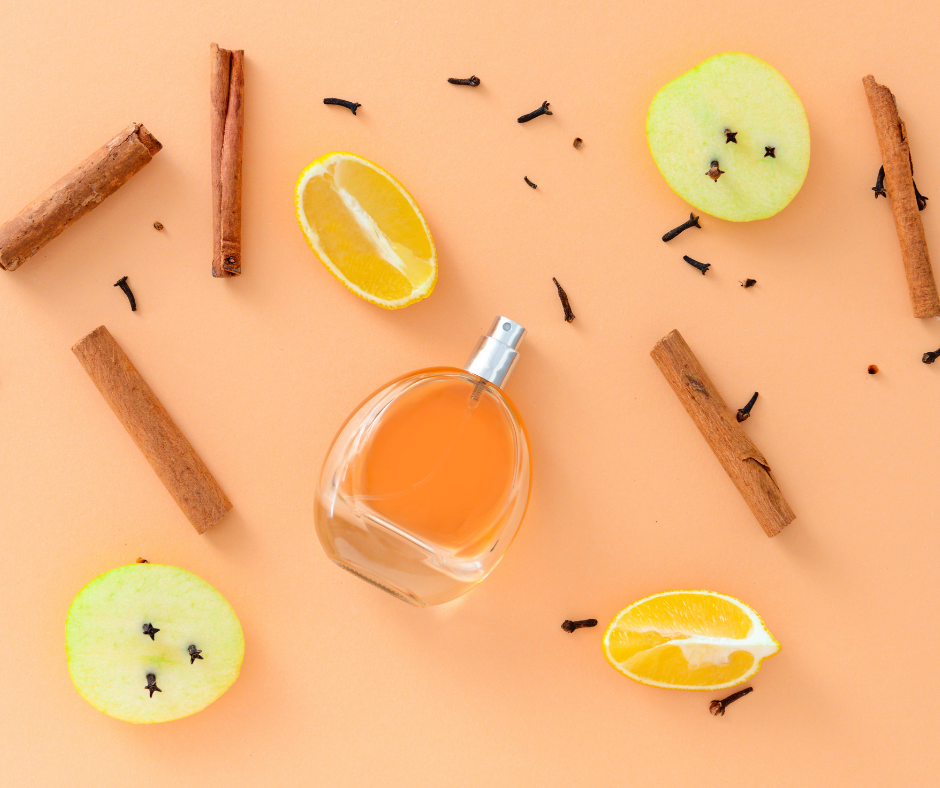 aromas de canela maca e laranja