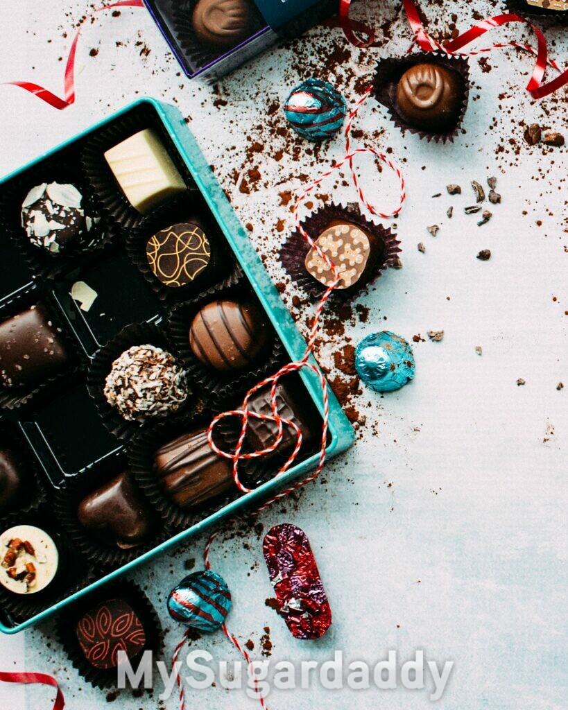 mimar a sua Sugar baby cvom chocolates nobres